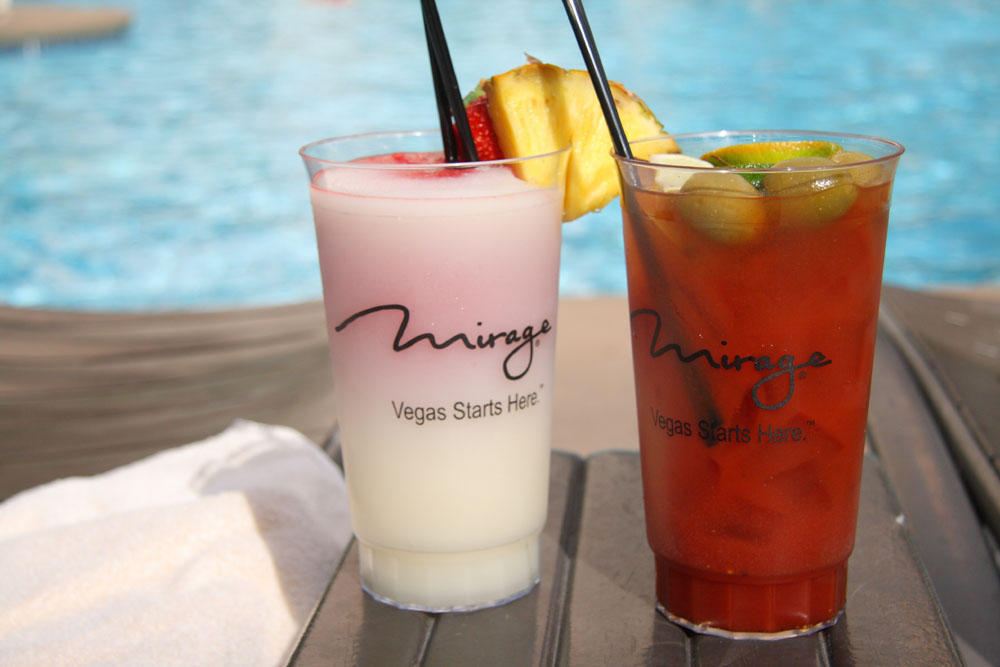 Mirage Pool drinks - $33 a pop.