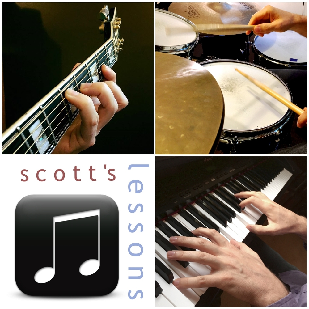 Scott's Lessons Drums . Guitar . Piano . Bass . Recording