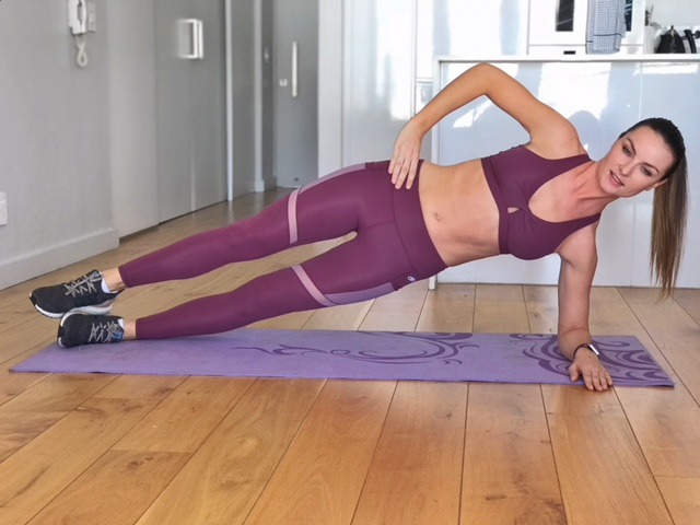 Side Plank Hold - 30-60 seconds hold each side