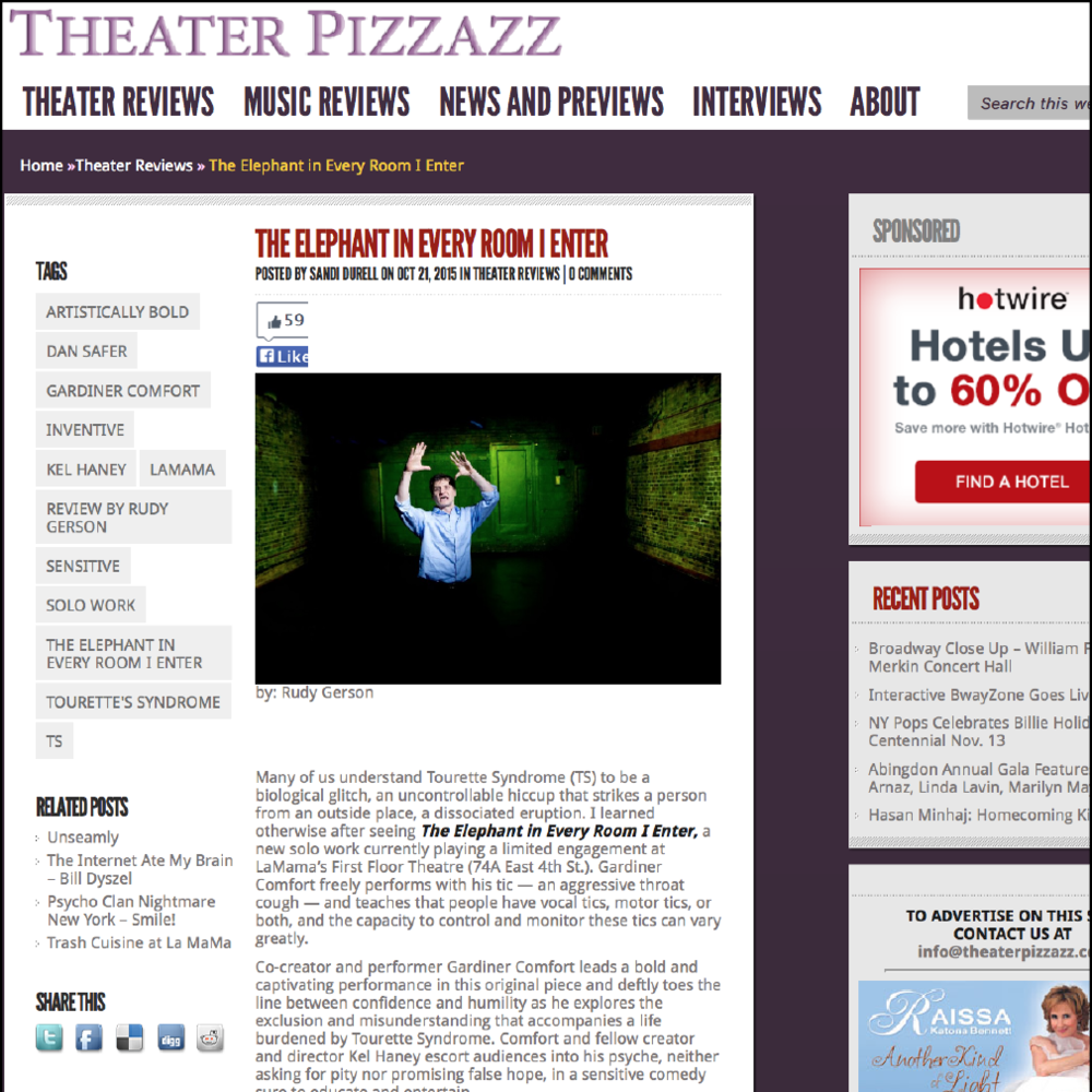 THEATER PIZZAZZ! by Rudy Gerson - 10/21/15