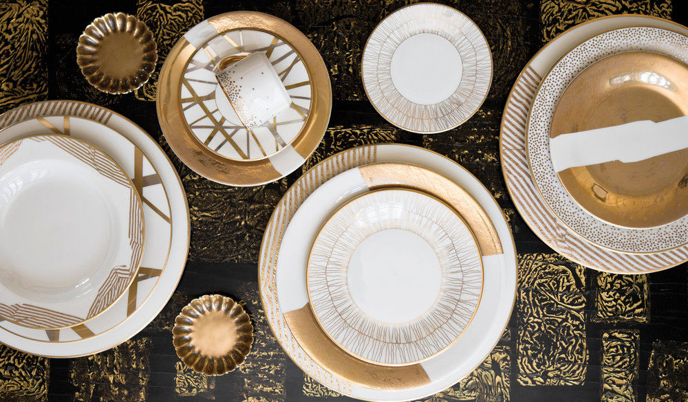 TRENDING DIRECTIONS IN TABLEWARE ABOUND WITH FRESH FLORAL DESIGNS INSPIRATIONS FROM MINERAL AND STONE RESOURCES AND UP-TO-DATE PRECIOUS AND SEMI-PRECIOUS ... & The Top Wedding Tableware Trends \u2014 The Bridal Council