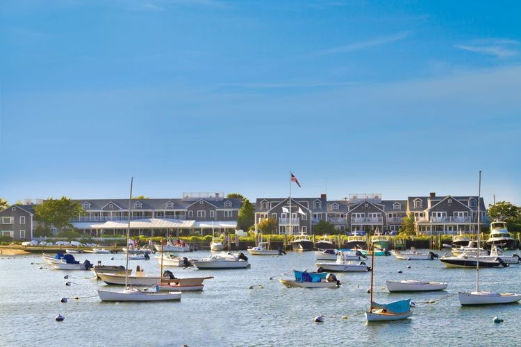 THE GATHERING SPOT : Traditional types wouldn't dream of celebrating a special occasion anyplace but   The White Elephant  , Nantucket's social hub. Weddings on the lawn or terrace come with harbor views; bridal couples can practically watch their guests walk from the ferry.  (PHOTO: Courtesy of The White Elephant)