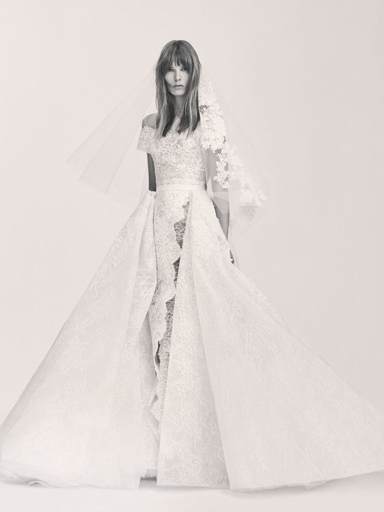 THE DRESS : Remove the overskirt from this show-stopping   Elie Saab   classic and the fantastically formal gown becomes emphatically casual; embroidered guipure lace adds to the charm factor.  (PHOTO: Courtesy of Elie Saab)
