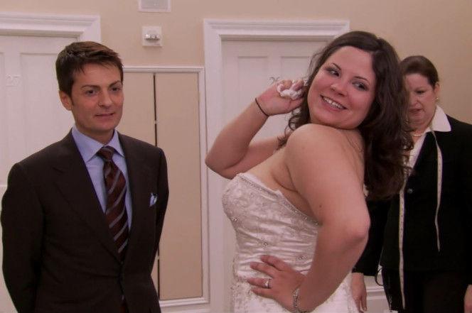 Fuller-figured bride Michelle LaMarca (right). TLC