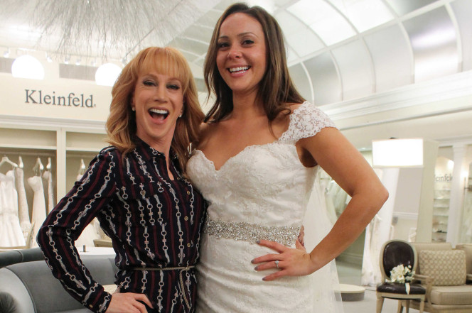 Kathy Griffin (left) and bride Tiffany. TLC