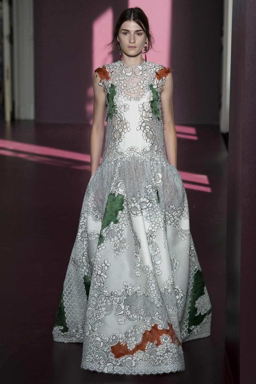 VALENTINO: Color Accents with Feathers