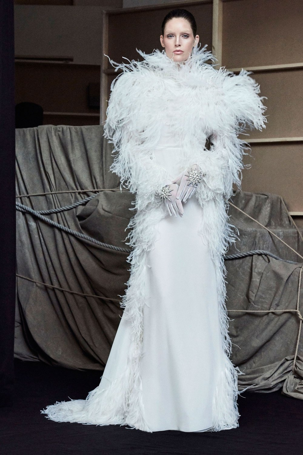 FRANCESCO SCOGNAMIGLIO: Head-to-Toe Feathers