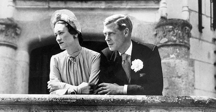 The Duke and Duchess of Windsor on their wedding day June 3, 1937 PHOTO COURTESY OF GETTY IMAGES.