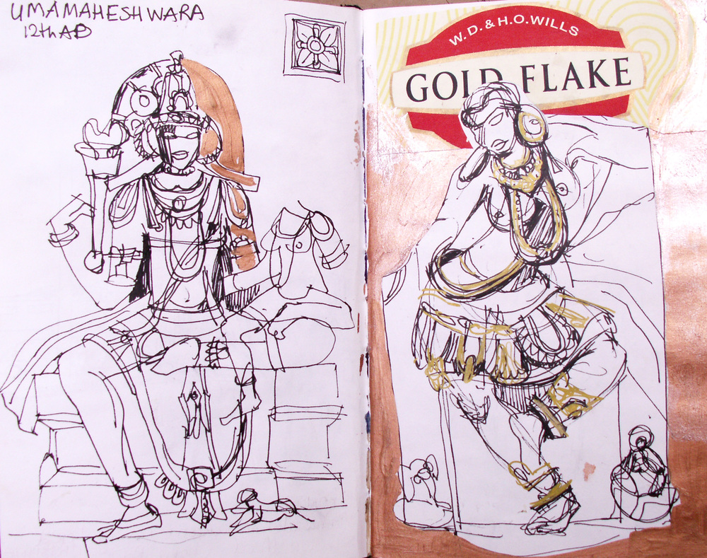 Sketches of traditional sculptures