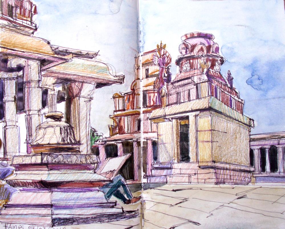 Krishna temple. Hampi