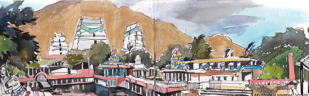Shiva temple in Thiruvannamalai. Tamil Nadu