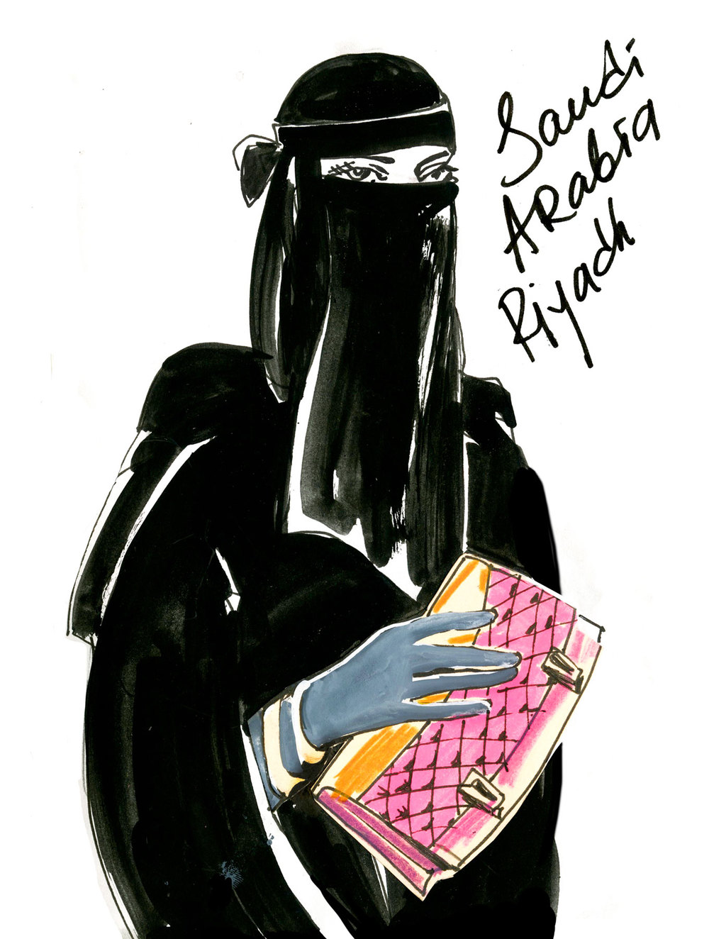 "RIYADH: ""O! Allah! Shame on them, they even remove their hijab! At least only my driver can recognize me by my handbag"""