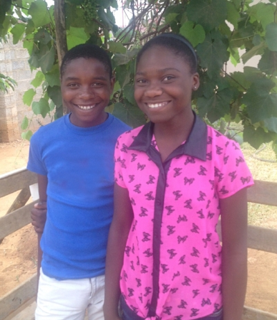 Enny and her brother shadrick who both live in the homes now.