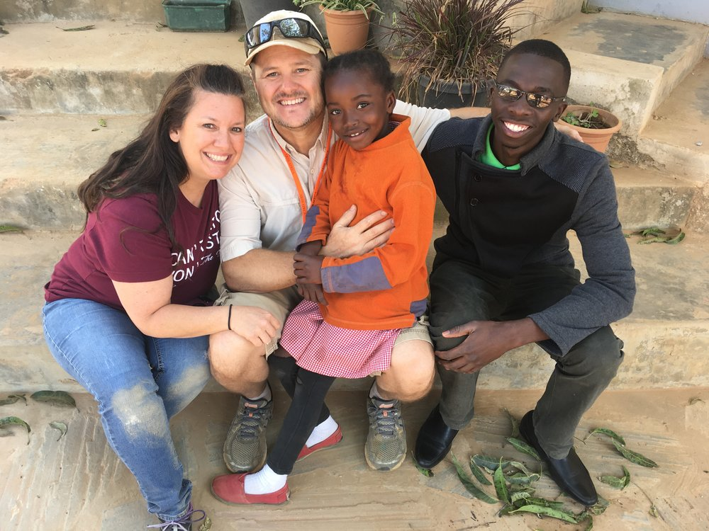The Smiths got to meet their sponsored child, Anna