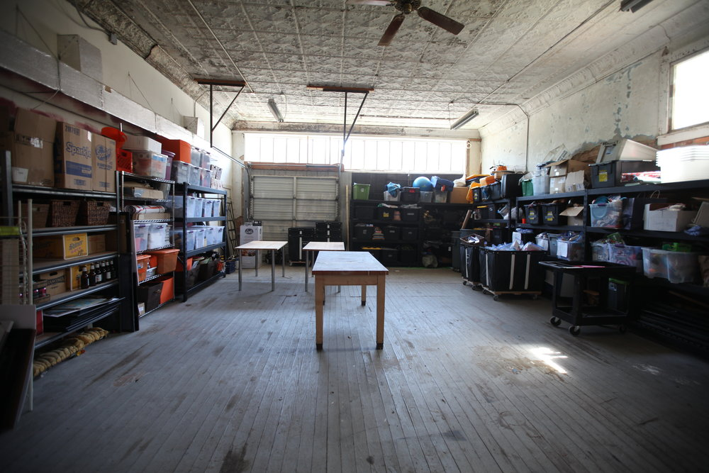 The building has a 1,000 square foot warehouse where donations, mission trip supplies, and fundraising supplies are stored.