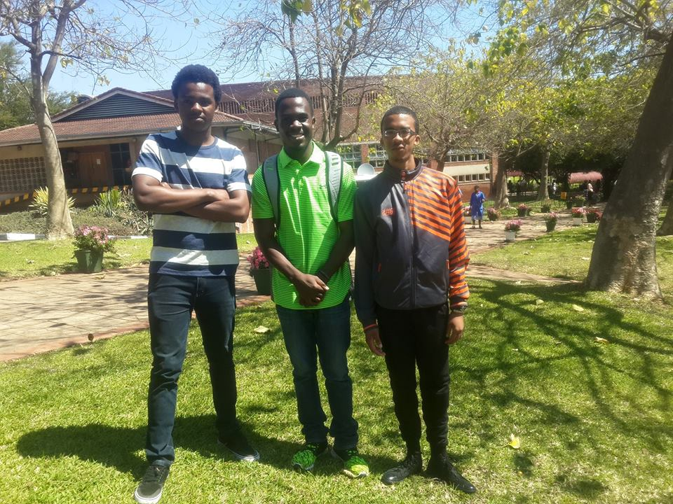 Grandson with a few friends from Africa University