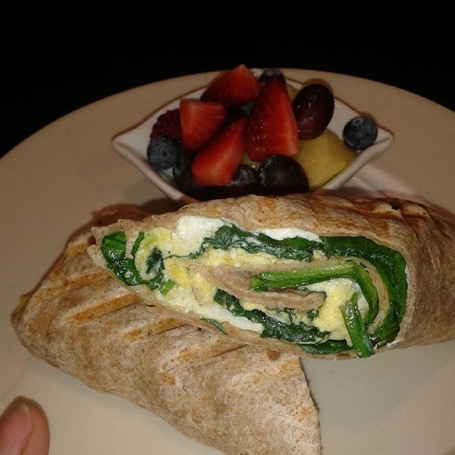 Good morning spinach feta wrap.  #fresh #healthyeating #vegetarian #healthlifestyle #fromscratch