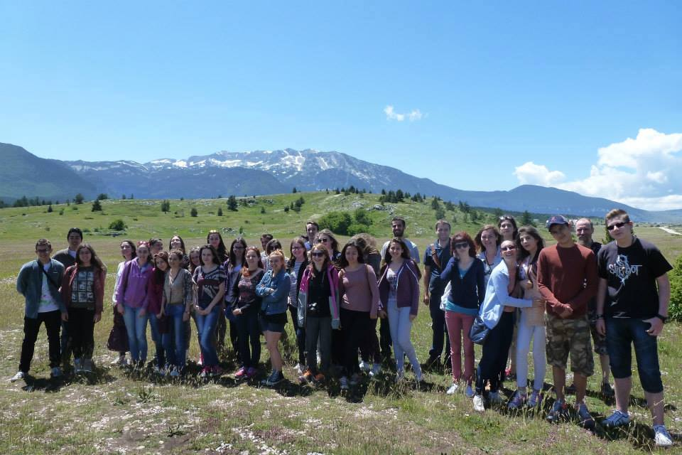 On tour around Blidinje national park.