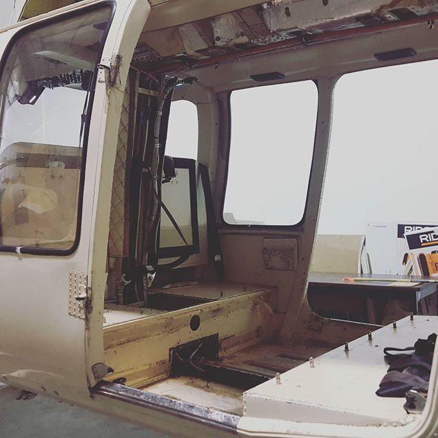 New Interior Process.  #MakeOver #AircraftMaintenance #aircraftinterior #aircraftmodifications  #ApexAviation #KHND #KVGT #KLAS #helicopter #rotorcraft
