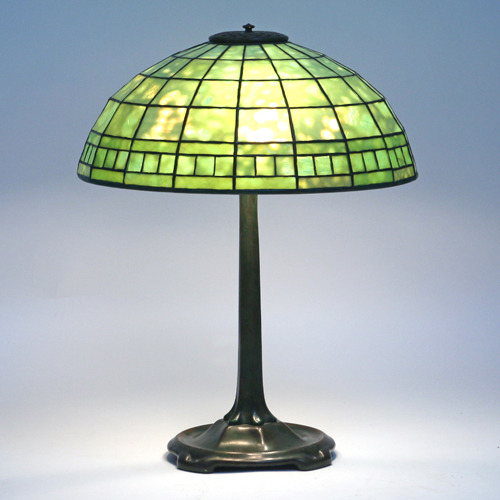 Lot 160 - Tiffany Studios Leaded Glass Lamp