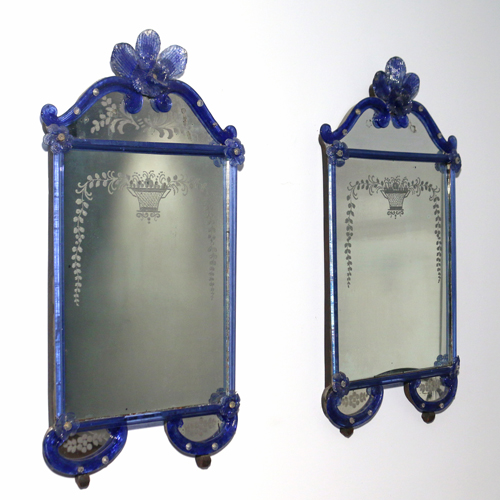 Lot 159 - Pair Venetian Glass Mirrors