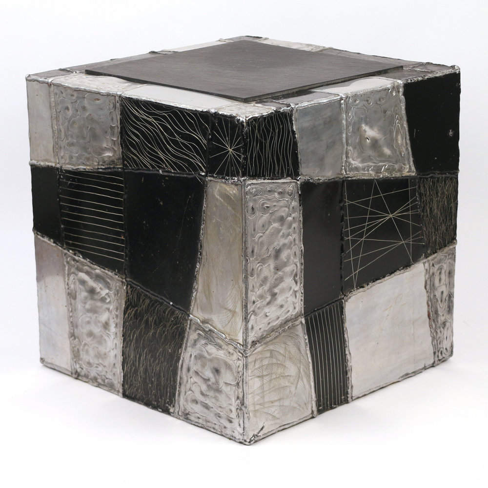 Lot 54 - Paul Evans 'Argente' cube side table