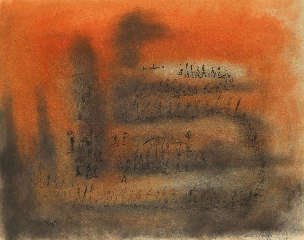 Norman Wilfred Lewis (American, 1919-1979), Untitled, 1951, $15,000-20,000