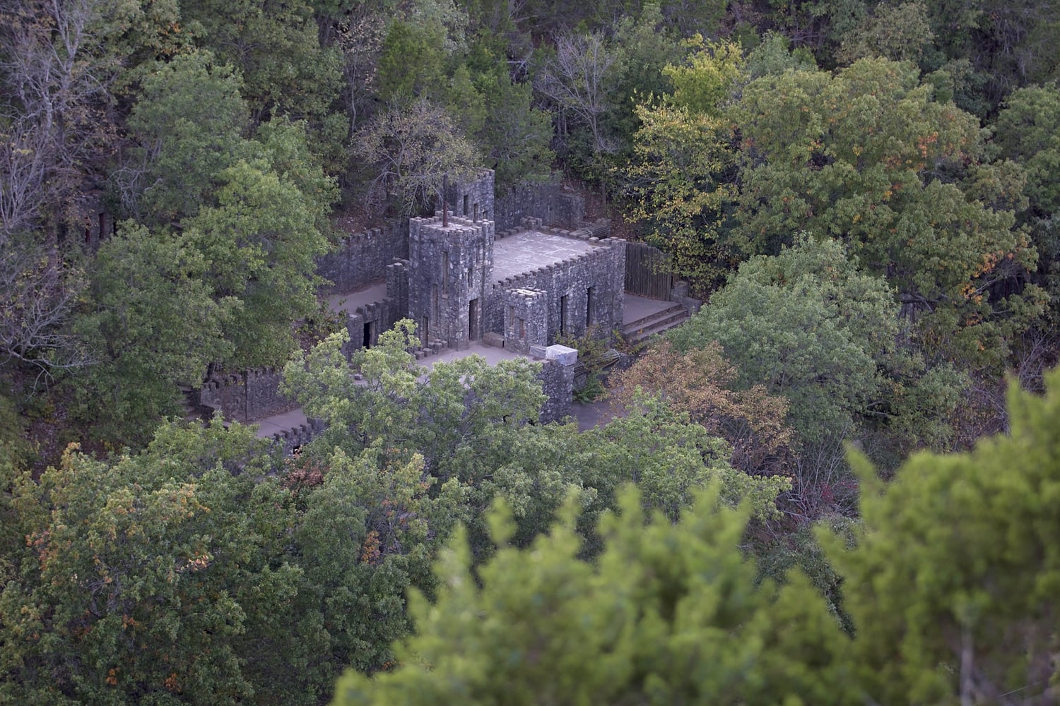 Yes, that's right, Turner Falls Park has an actually castle.