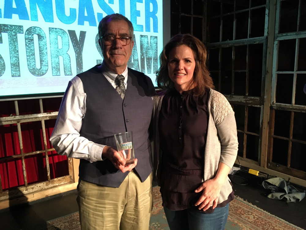 Our winner Tony Crocamo poses with emcee Luanne Sims.