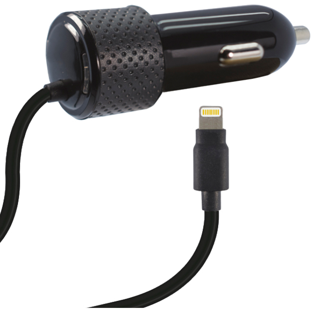 2.4 AMP CAR CHARGER FOR APPLE LIGHTNING WITH MFI