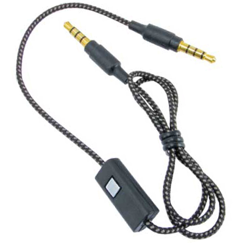 4' 3.5 MM STEREO AUXILIARY CABLE WITH MICROPHONE