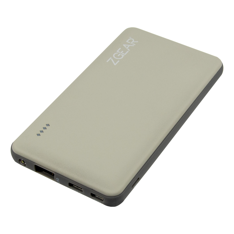 6000 MAH POWER BANK WITH LIGHTNING, MICRO USB AND TYPE C PORT