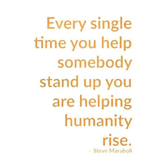 The biggest threat we face in this world today is dehumanization. We must continue to fight FOR each other and not WITH each other. May we always help each other to stand up. 🙏🏼 #weareallthesame  #humanityfirst #blessyou #sneezeframe #spreadlove #loveoneanother  #riseup #stevemaraboli 💕