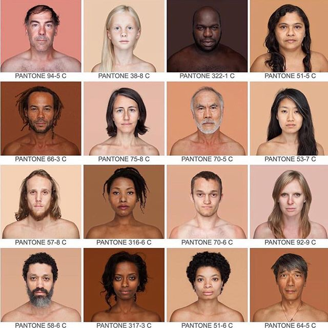 "#Blessyou @angelicadass and your #humanae project! - ""Angelica has taken 3000 portraits in 13 different countries and found the extract match corresponding to a #Pantone palette to show peoples true colors instead of what we typically describe as race."" - Thank you Angelica for creating such important work that strives to unite and dispel dehumanization. We are all a ""work in progress"" & no matter where we come from, what we believe, what we value, or the color of our skin, we must always remember that #weareallthesame!  #sneezeframe #unityindiversity #spreadlove #bekind #humanityfirst #humanaeproject #angelicadass ❤️"