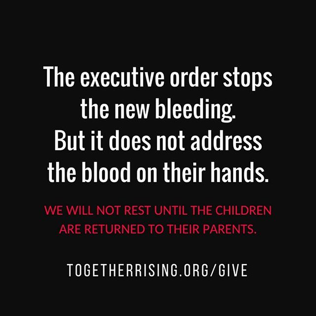 The fight isn't over. More than 2,500 immigrant kids are still without their parents. They will be placed with sponsors, foster care and put into removal proceedings before the very slim chance of ever reuniting with their families. 💔 The executive order only puts a band aid on an executive epic fail. The damage is done and all that's left TAKE ACTION. • This is not freedom. This is not brave. This isn't about protecting our borders. This is inhumane. These kids need their mothers and fathers. If you're compelled to help alleviate the suffering of these kids, donate to togetherrising.org/give & follow @together.rising for updates. #togetherrising #humanityfirst #savethechildren #keepfamiliestogether #blessyou #sneezeframe #unityindiversity