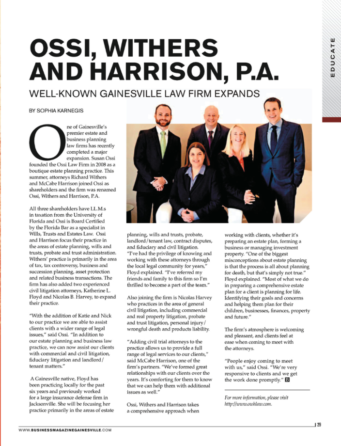 December, 2015 issue of Business in the Heart of Florida Magazine