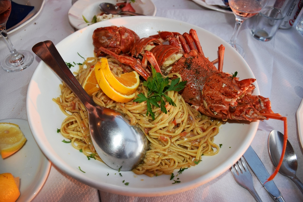 Lobster Spaghetti - why is there an orange slice on there?