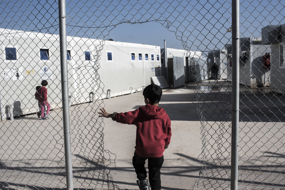 The inhabitants of the center have made holes in the fences in order to provide more freedom of movement for themselves