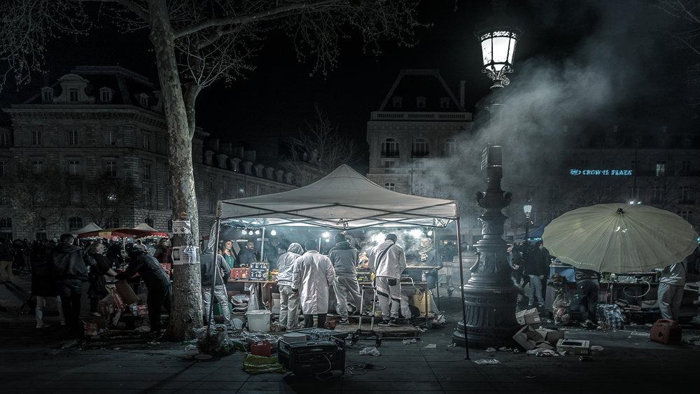 Most protests in Paris take place at Place de la Republique.