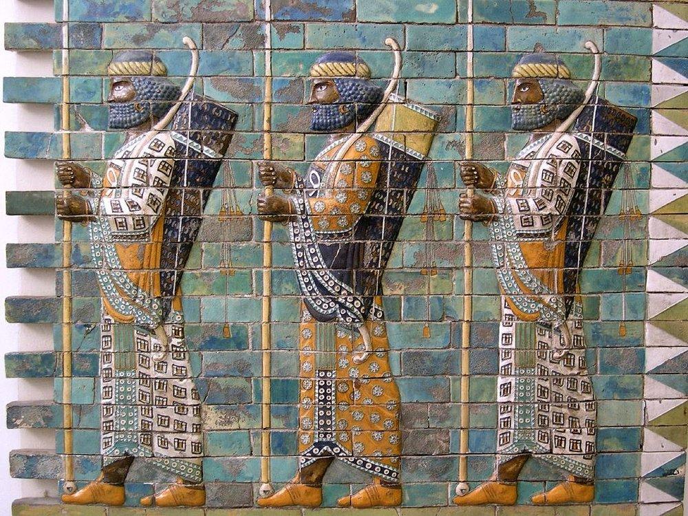 Persian Warriors (source:Wikemedia Commons)