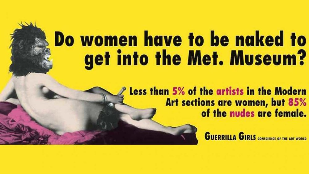 The guerrilla girls are known for pasting provocative billboards in public spaces