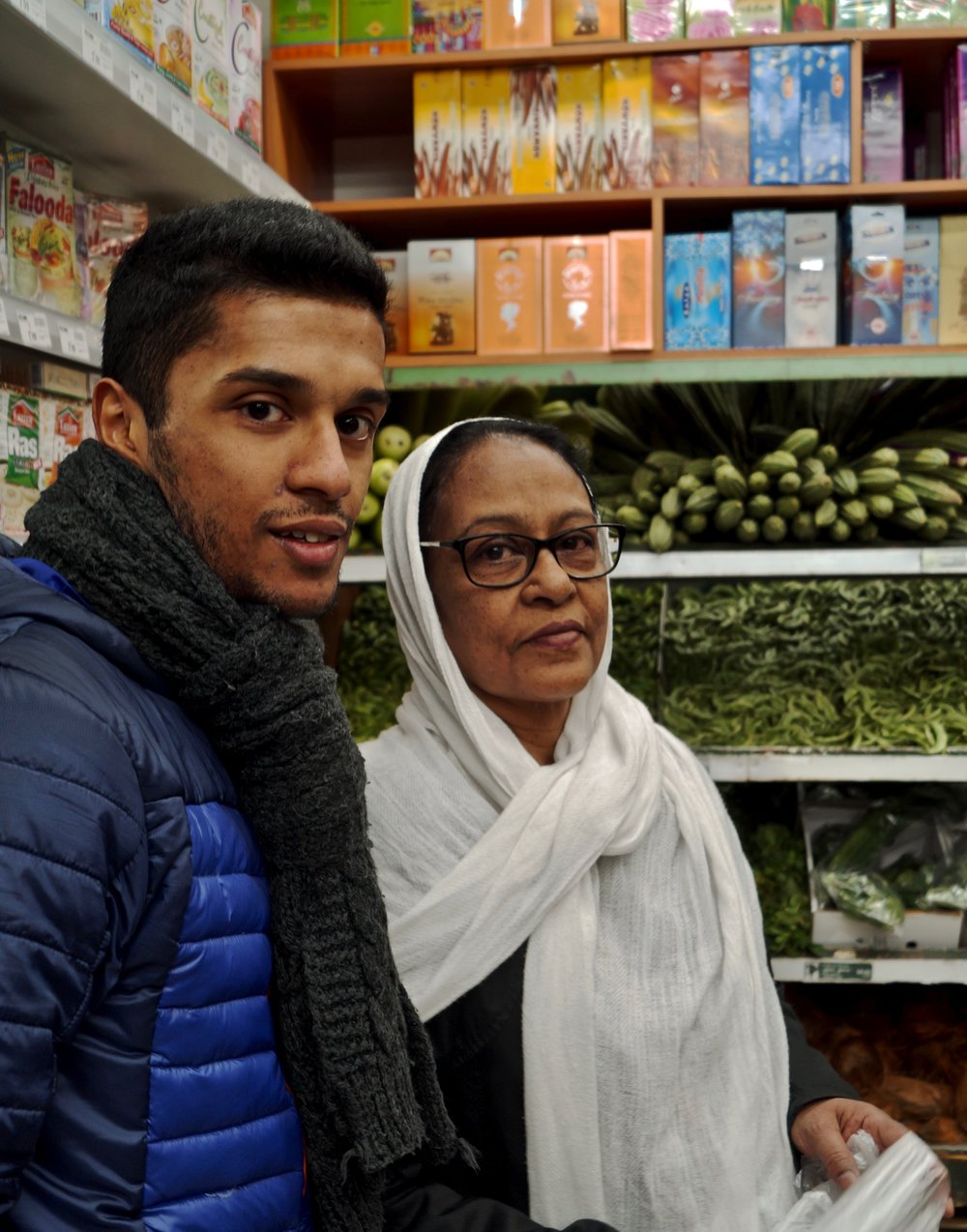 Abdoussalam Shajahan (30) with his mother Halima Shajahan