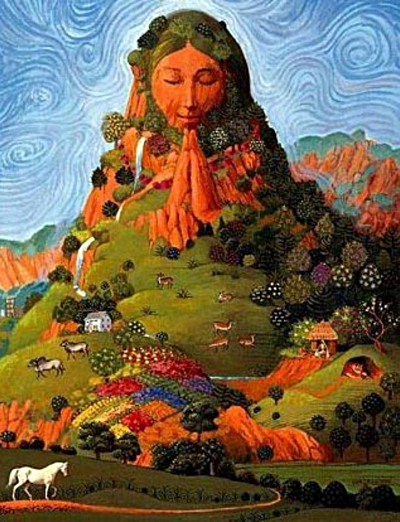A depiction of the 'Pachamama', meaning 'mother Earth'