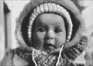 Berta as a baby.