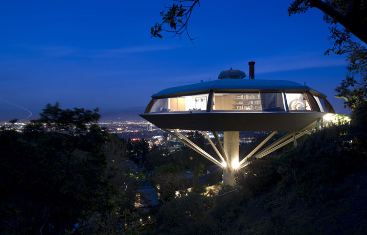 "John Lautner's Chemosphere, once called ""the most modern home built in the world"" (Encyclopædia Britannica)"