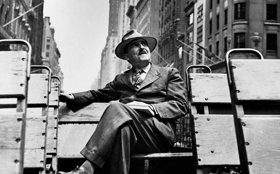 Stefan Zweig on a bus in New York City, 1941 Photo: by Kurt Severin, courtesy of David H Lowenherz, provided to Frances Wilson,  The Telegraph