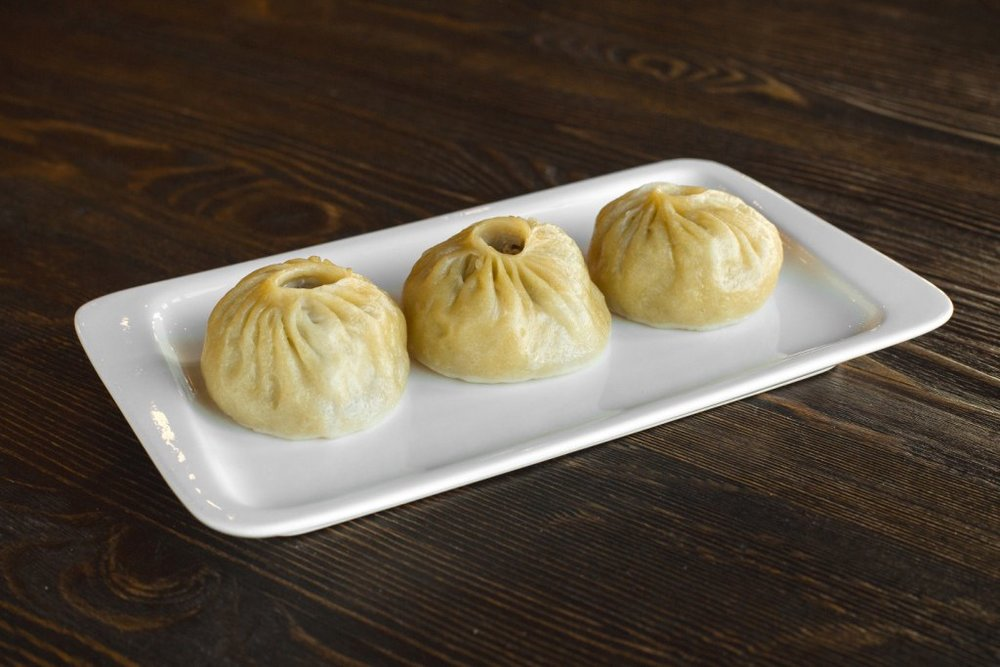 Buuz are traditional Buryat dumplings with two types of meat inside. Photo by Denis Speptsov.