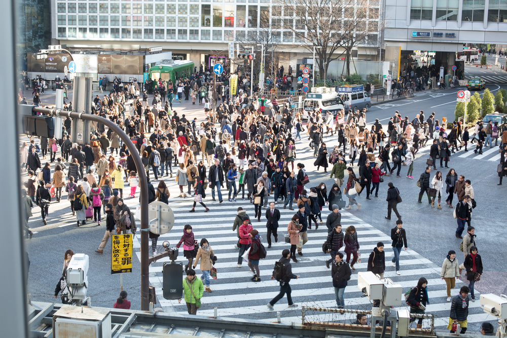 SHIBUYA CROSSING VIEW FROM STARBUCKS