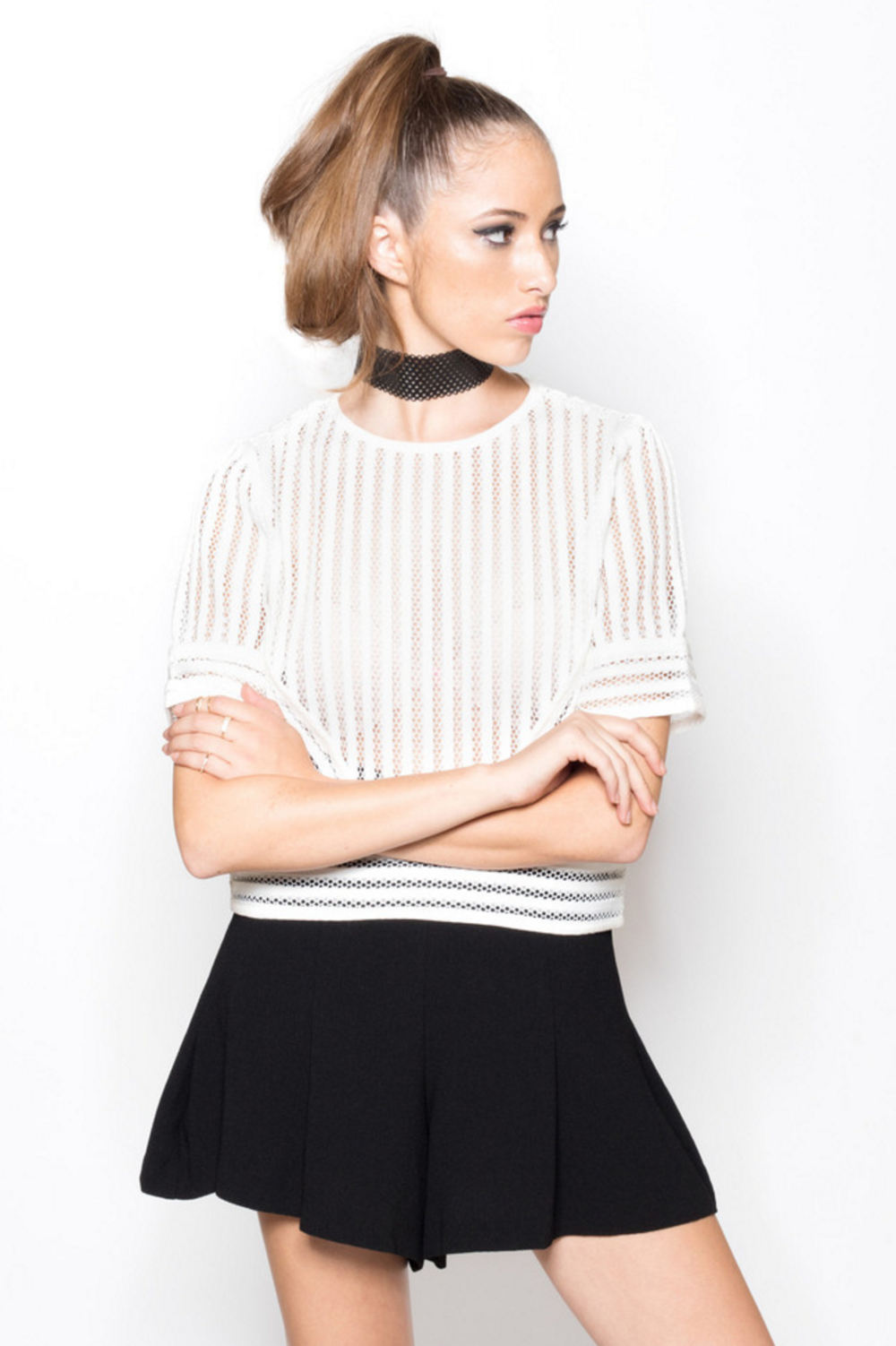 MESH STRIPE TOP