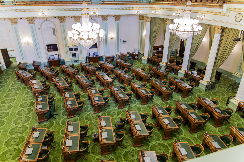 California State Assembly - GREEN is resembled after the British House of Commons which represents Earth and People.